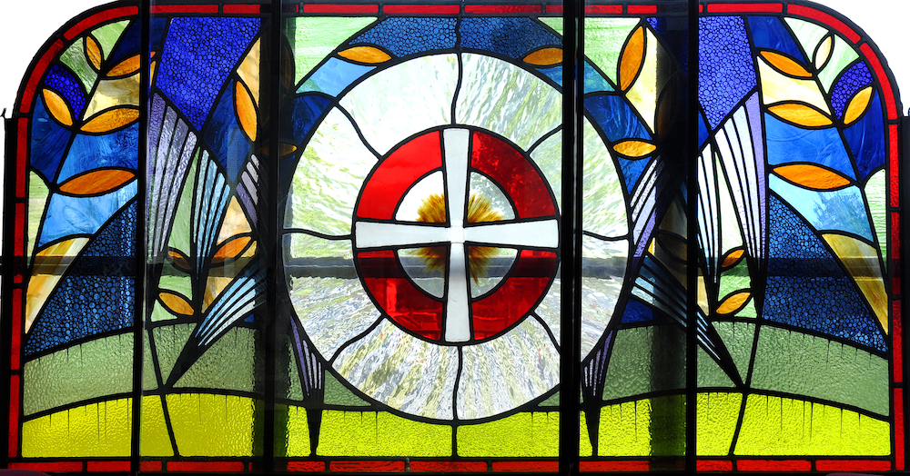 Methodist stained glass window