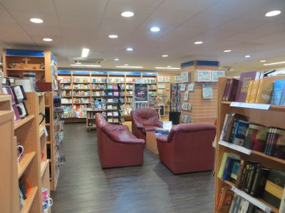 Tenants include the CLC Bookshop in Birmingham. Photo shows comfy chairs to sit and read
