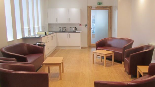 Wiseman Room at Carrs Lane Conference Centre with self-catering kitchenette