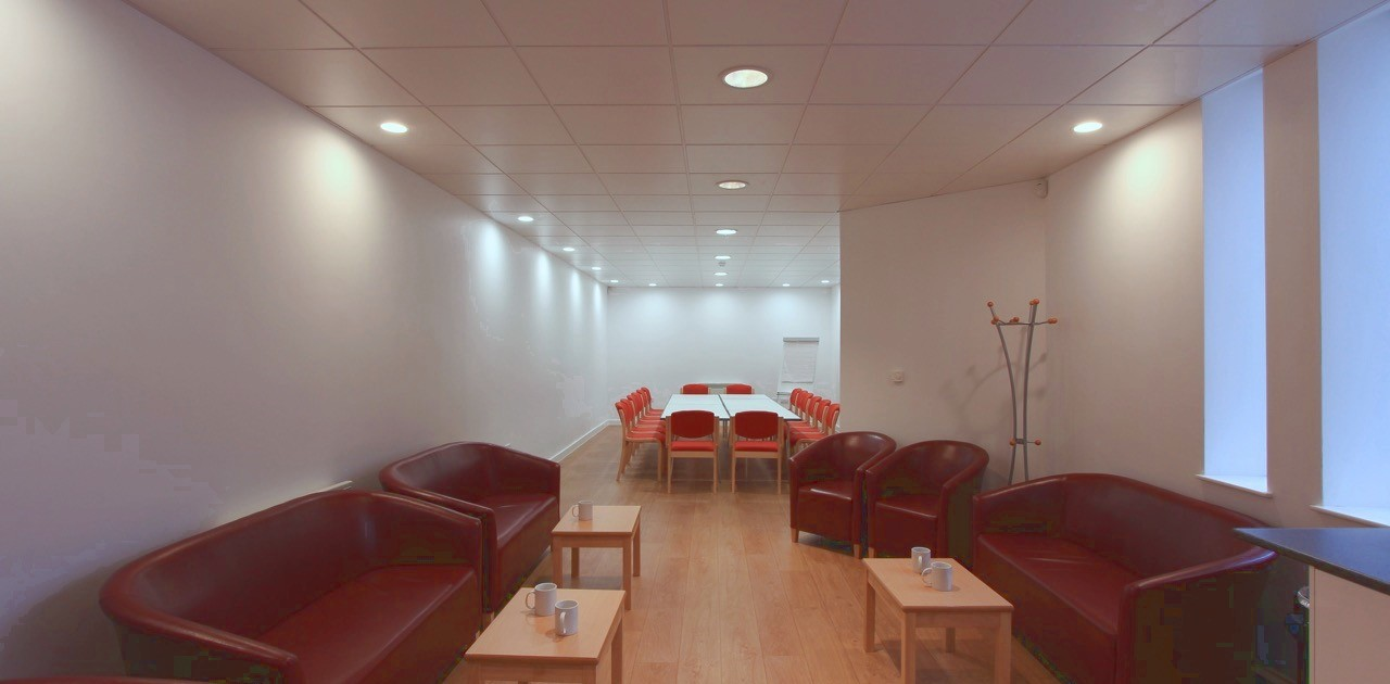 Wiseman Room at Carrs Lane Conference Centre in board and lounge styles