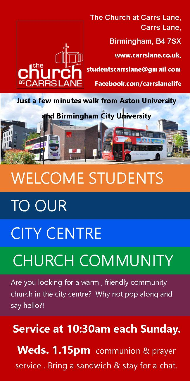 student welcome leaflet page 1
