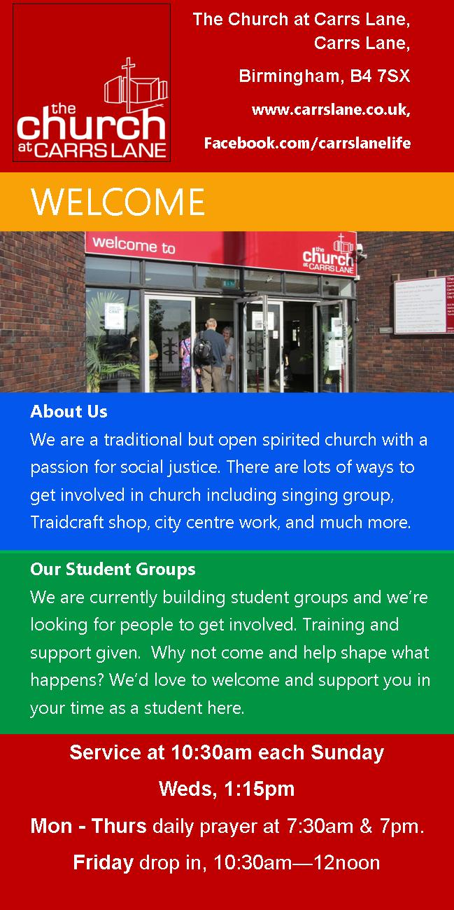 student welcome leaflet page 2