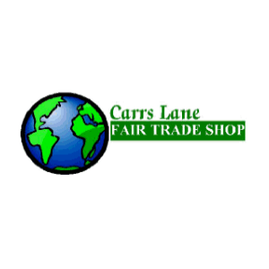 Carrs Lane Fair Trade Shop logo in blue and green