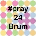 #pray24Brum logo 24 hours of prayer 22-23 January 2021, 8am-8pm