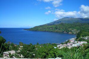 Chateaubelair, St Vincent and volcano La Soufriere